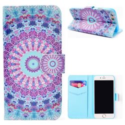 Mint Green Mandala Flower Stand Leather Wallet Case for iPhone 6s Plus / 6 Plus 6P(5.5 inch)