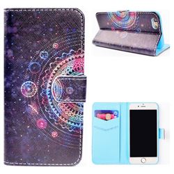 Universe Mandala Flower Stand Leather Wallet Case for iPhone 6s Plus / 6 Plus 6P(5.5 inch)