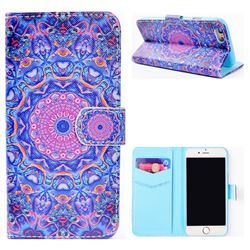 Purple Mandala Flower Stand Leather Wallet Case for iPhone 6s Plus / 6 Plus 6P(5.5 inch)
