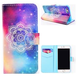 Sky Mandala Flower Stand Leather Wallet Case for iPhone 6s Plus / 6 Plus 6P(5.5 inch)