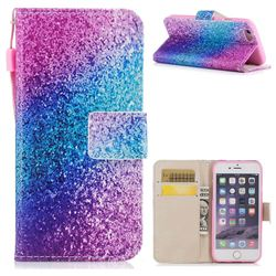 Rainbow Sand PU Leather Wallet Case for iPhone 6s Plus / 6 Plus 6P(5.5 inch)