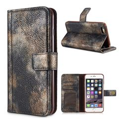 Luxury Retro Forest Series Leather Wallet Case for iPhone 6s Plus / 6 Plus 6P(5.5 inch) - Grey