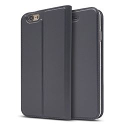 Ultra Slim Card Magnetic Automatic Suction Leather Wallet Case for iPhone 6s Plus / 6 Plus 6P(5.5 inch) - Star Grey