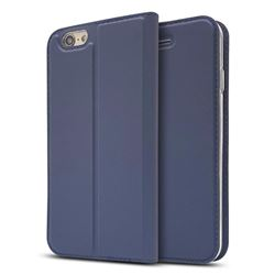 Ultra Slim Card Magnetic Automatic Suction Leather Wallet Case for iPhone 6s Plus / 6 Plus 6P(5.5 inch) - Royal Blue