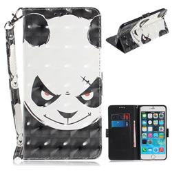 Angry Bear 3D Painted Leather Wallet Phone Case for iPhone 6s Plus / 6 Plus 6P(5.5 inch)