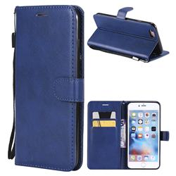 Retro Greek Classic Smooth PU Leather Wallet Phone Case for iPhone 6s Plus / 6 Plus 6P(5.5 inch) - Blue