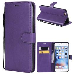 Retro Greek Classic Smooth PU Leather Wallet Phone Case for iPhone 6s Plus / 6 Plus 6P(5.5 inch) - Purple