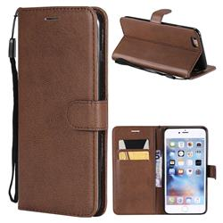 Retro Greek Classic Smooth PU Leather Wallet Phone Case for iPhone 6s Plus / 6 Plus 6P(5.5 inch) - Brown