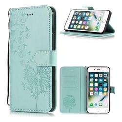 Intricate Embossing Dandelion Butterfly Leather Wallet Case for iPhone 6s Plus / 6 Plus 6P(5.5 inch) - Green