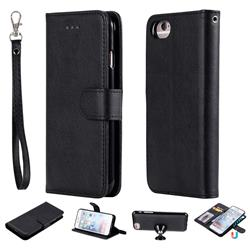 Retro Greek Detachable Magnetic PU Leather Wallet Phone Case for iPhone 6s Plus / 6 Plus 6P(5.5 inch) - Black