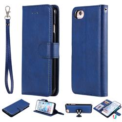 Retro Greek Detachable Magnetic PU Leather Wallet Phone Case for iPhone 6s Plus / 6 Plus 6P(5.5 inch) - Blue