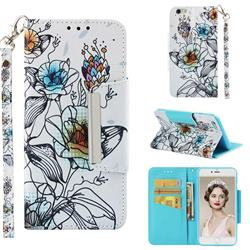 Fotus Flower Big Metal Buckle PU Leather Wallet Phone Case for iPhone 6s Plus / 6 Plus 6P(5.5 inch)