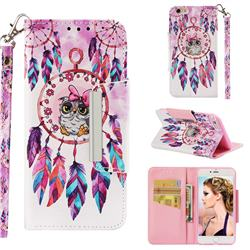 Owl Wind Chimes Big Metal Buckle PU Leather Wallet Phone Case for iPhone 6s Plus / 6 Plus 6P(5.5 inch)