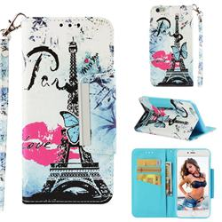 Lip Tower Big Metal Buckle PU Leather Wallet Phone Case for iPhone 6s Plus / 6 Plus 6P(5.5 inch)