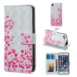 Cherry Blossom 3D Painted Leather Phone Wallet Case for iPhone 6s Plus / 6 Plus 6P(5.5 inch)