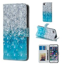 Sea Sand 3D Painted Leather Phone Wallet Case for iPhone 6s Plus / 6 Plus 6P(5.5 inch)