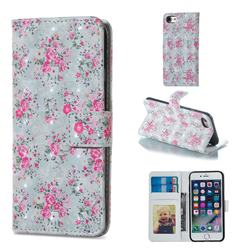 Roses Flower 3D Painted Leather Phone Wallet Case for iPhone 6s Plus / 6 Plus 6P(5.5 inch)