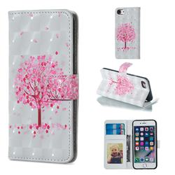 Sakura Flower Tree 3D Painted Leather Phone Wallet Case for iPhone 6s Plus / 6 Plus 6P(5.5 inch)