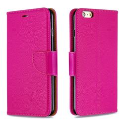 Classic Luxury Litchi Leather Phone Wallet Case for iPhone 6s Plus / 6 Plus 6P(5.5 inch) - Rose