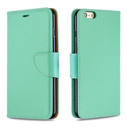 Classic Luxury Litchi Leather Phone Wallet Case for iPhone 6s Plus / 6 Plus 6P(5.5 inch) - Green