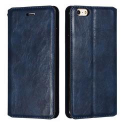Retro Slim Magnetic Crazy Horse PU Leather Wallet Case for iPhone 6s Plus / 6 Plus 6P(5.5 inch) - Blue