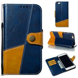 Retro Magnetic Stitching Wallet Flip Cover for iPhone 6s Plus / 6 Plus 6P(5.5 inch) - Blue
