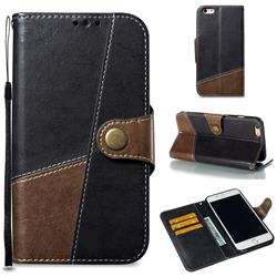 Retro Magnetic Stitching Wallet Flip Cover for iPhone 6s Plus / 6 Plus 6P(5.5 inch) - Dark Gray