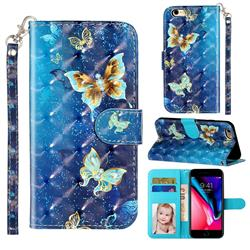 Rankine Butterfly 3D Leather Phone Holster Wallet Case for iPhone 6s Plus / 6 Plus 6P(5.5 inch)