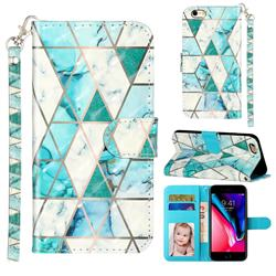 Stitching Marble 3D Leather Phone Holster Wallet Case for iPhone 6s Plus / 6 Plus 6P(5.5 inch)