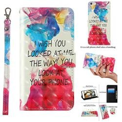 Look at Phone 3D Painted Leather Wallet Case for iPhone 6s Plus / 6 Plus 6P(5.5 inch)