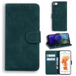Retro Classic Skin Feel Leather Wallet Phone Case for iPhone 6s Plus / 6 Plus 6P(5.5 inch) - Green
