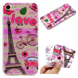 Love Eiffel Tower Super Clear Soft TPU Back Cover for iPhone 8 / 7 (4.7 inch)