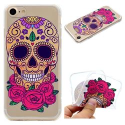 Skeleton Flower Super Clear Soft TPU Back Cover for iPhone 8 / 7 (4.7 inch)