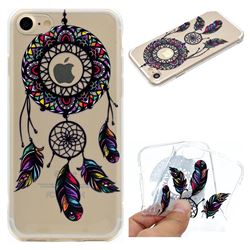 Feather Black Wind Chimes Super Clear Soft TPU Back Cover for iPhone 8 / 7 (4.7 inch)