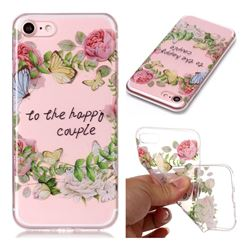 Green Leaf Rose Super Clear Soft TPU Back Cover for iPhone 8 / 7 (4.7 inch)