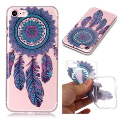 Blue Wind Chimes Super Clear Soft TPU Back Cover for iPhone 8 / 7 (4.7 inch)