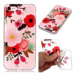 Painting Flowers Super Clear Soft TPU Back Cover for iPhone 8 / 7 (4.7 inch)