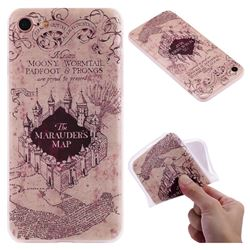 Castle The Marauders Map 3D Relief Matte Soft TPU Back Cover for iPhone 8 / 7 (4.7 inch)