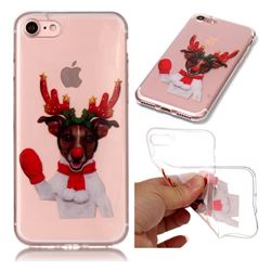 Red Gloves Elk Super Clear Soft TPU Back Cover for iPhone 8 / 7 (4.7 inch)