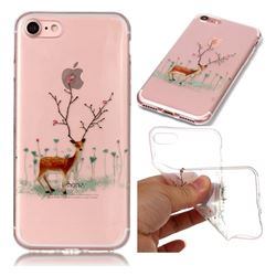 Branches Elk Super Clear Soft TPU Back Cover for iPhone 8 / 7 (4.7 inch)