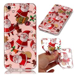 Santa Claus Super Clear Soft TPU Back Cover for iPhone 8 / 7 (4.7 inch)