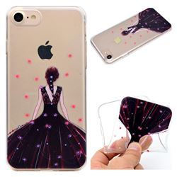 Wedding Girl Super Clear Soft TPU Back Cover for iPhone 8 / 7 (4.7 inch)
