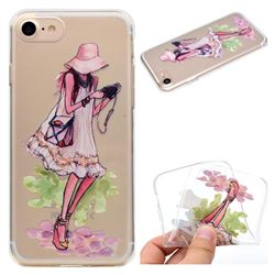 Travel Girl Super Clear Soft TPU Back Cover for iPhone 8 / 7 (4.7 inch)