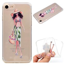 Bikini Girl Super Clear Soft TPU Back Cover for iPhone 8 / 7 (4.7 inch)