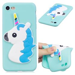 Blue Hair Unicorn Soft 3D Silicone Case for iPhone 8 / 7 (4.7 inch)