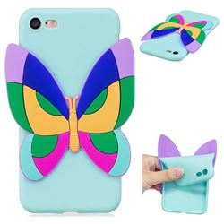 Rainbow Butterfly Soft 3D Silicone Case for iPhone 8 / 7 (4.7 inch)