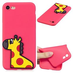 Yellow Giraffe Soft 3D Silicone Case for iPhone 8 / 7 (4.7 inch)