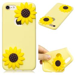 Yellow Sunflower Soft 3D Silicone Case for iPhone 8 / 7 (4.7 inch)