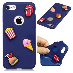 I Love Hamburger Soft 3D Silicone Case for iPhone 8 / 7 (4.7 inch)