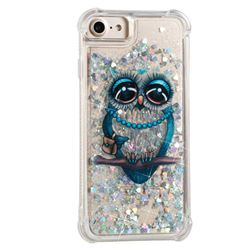 Sweet Gray Owl Dynamic Liquid Glitter Sand Quicksand Star TPU Case for iPhone 8 / 7 (4.7 inch)